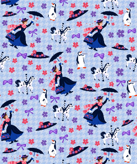 1yd Cut Practically Perfect Large Scale Swim Fabric