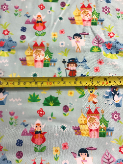 1yd Cut Around the World 2.0 Cotton Lycra
