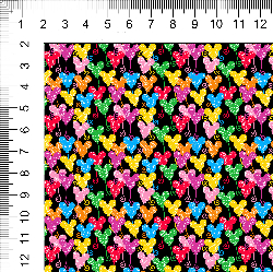 1yd cut Mini Scale Black Looney Cotton Lycra Retail