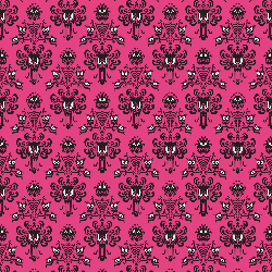 1yd Cut HM Wallpaper Pink Small Scale Swim