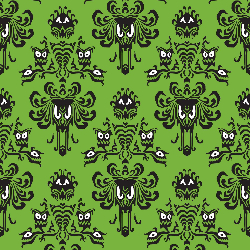 1yd Cut HM Wallpaper Lime Large Scale Cotton Lycra