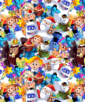 2yd cut Large Misfits Minky Fluff Fabric
