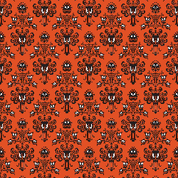 1yd Cut HM Wallpaper Orange Small Scale Double Brushed Poly