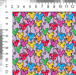 1yd cut Small Scale Lavender Looney Cotton Lycra Retail