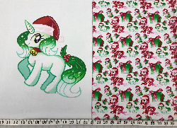 1yd cut MLP Bad Mash Christmas Fabric Cotton Lycra