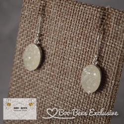 Boo-Bees Exclusive Breastmilk Druzy Earrings