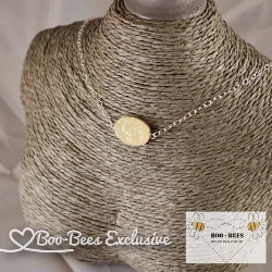 Boo-Bees Exclusive Breastmilk Druzy Necklace