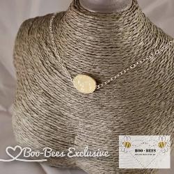 Boo-Bees Exclusive Breastmilk Druzy Necklace