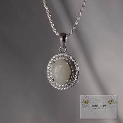 the enamored collection breastmilk stone necklace