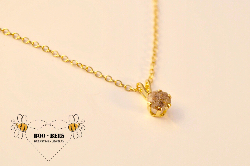 Solitaire Gold Enchantment necklace w/ashes (enamored collection)