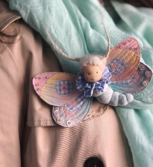 Butterfly brooch Lullaby