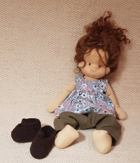 Marika , natural fiber art doll by Bemka