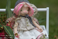 Valerie - 13 inch Natural Fiber Art doll