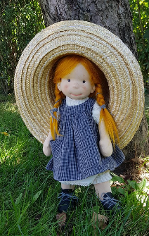 "Anne ,18""  natural fibre arts doll by Bemka"