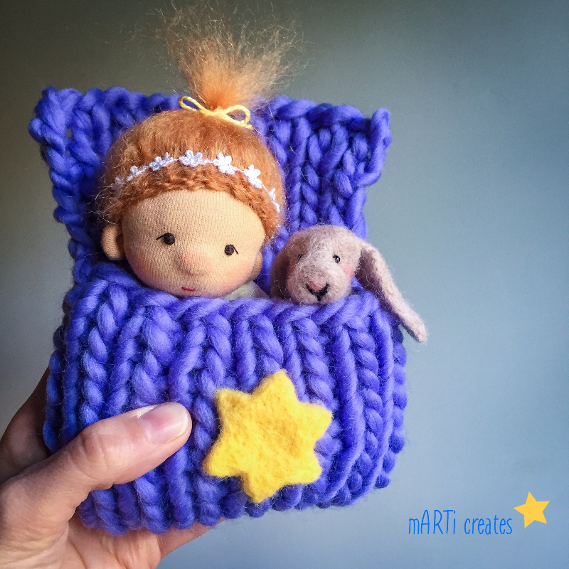 Baby doll and Bunny - whimsical set by mARTi creates