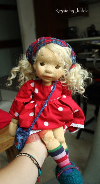 Krysia 15,75inch(40cm),Natural Fiber Art Doll by Julilale