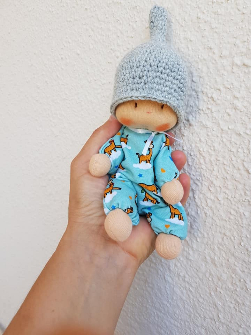 Tiny , pocket doll by Bemka