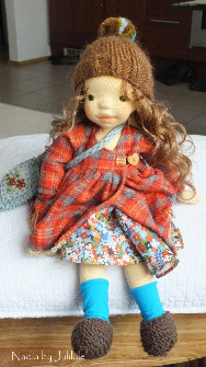 Nadia by Julilale - 12inch(30cm),Natural Fiber Art Doll