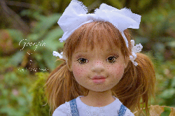 "Georgia, 16"" Natural Fiber Art Doll by Tara's Doll Studio"