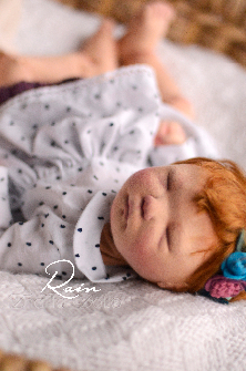 Rain, a OOAK natural fibers art baby doll by Thalita Dol