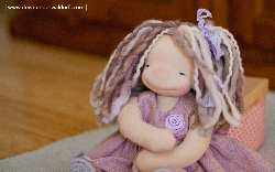 Fenna - 14 inch Natural Fiber Art doll