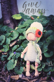 Clafoutis, 8 inch Natural Fiber Art Doll by LesPouPZ