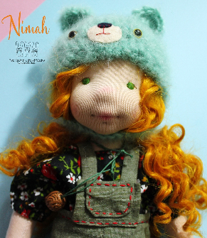 NIMAH, 12'' tall, Natural Fiber Art Doll