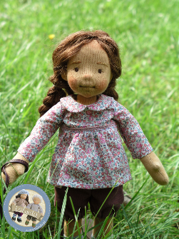 Sylvie - natural fiber art doll (12 inch)
