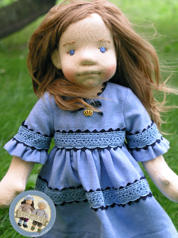 Emma - natural firber art doll (16,5 inch)