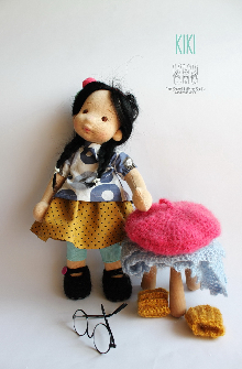KIKI, 12'' tall, Natural Fiber Art Doll