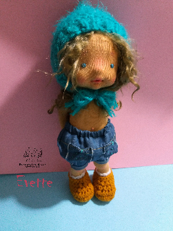 EVETTE, 12'' waldorf inspired doll