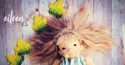 Eileen, a 15-inch Natural Fiber Art Doll by LesPouPZ