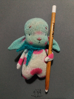 Bunny, pocket doll, 4''