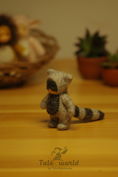 Tiny Raccoon baby doll 2 inch