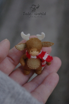 Tiny Deer baby doll 2 inch