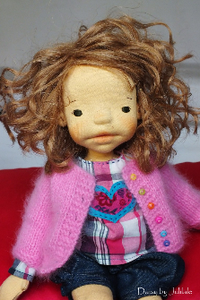 Daisy by Julilale -15,75inch(40cm),Natural Fiber Art Doll