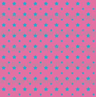 Pink with Light Blue Stars - C/L (1 yd cut)
