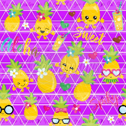 Purple Lemons - Swim (2 yd cut)