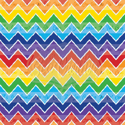 Rainbow Chevron C/L (1 yd cut)