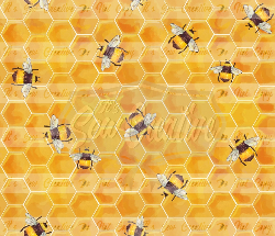 Honey Bee Coordinate - Woven (1 yd cut)