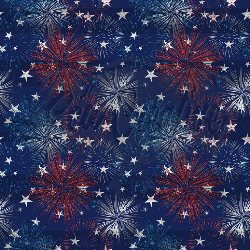 Navy Fireworks CL (1 yd cut)