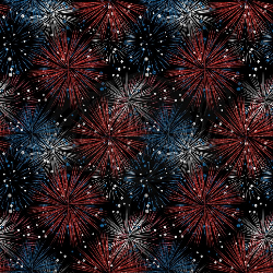 Black Fireworks Swim (1 yd cut)