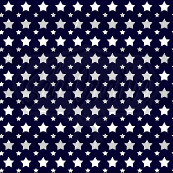 Navy with White Stars C/L (1 yd cut)