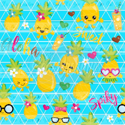 Lemon Cacti - Swim (1 yd cut)
