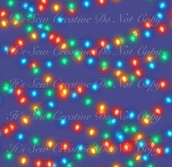 Xmas Lights (C/L) - 1 yd Cut