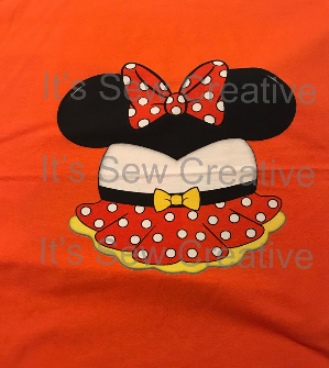 Girl Halloween Dress Orange Panel 15 x 18