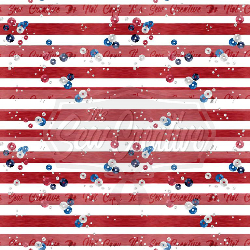Patriot Stripe W/Sequins C/L (1 yd cut)