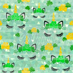St Patty's Unicorn Main Print C/L (1 yd cut)