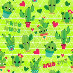 Lime Green Cacti - C/L (1 yd cut)