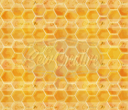Honey Comb Print CL (2 yd cut)